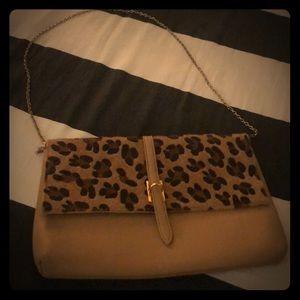 Crossbody cheetah print purse